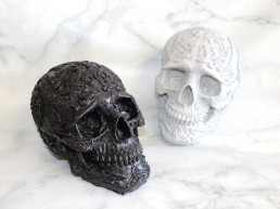 Skulls cast out of resin